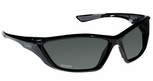 Bolle SWAT Tactical Safety Glasses with Shiny Black Frame and Polarized Smoke Anti-Fog Lens