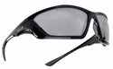 Bolle SWAT Tactical Safety Glasses with Shiny Black Frame and Silver Flash Anti-Fog Lens
