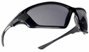 Bolle SWAT Tactical Safety Glasses with Shiny Black Frame and Smoke Anti-Fog Lens