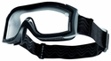 Bolle X1000 Duo Tactical Safety Goggles with Black Frame and Clear Dual-Pane Anti-Fog Lens