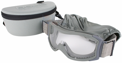 Bolle X1000 Tactical Safety Goggles with Foliage Frame and Clear Anti-Fog and Anti-Scratch Lens