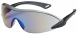 Bouton Airborne Safety Glasses with Black/Gray Temple and Blue Mirror Anti-Fog Lens