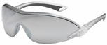 Bouton Airborne Safety Glasses with Black/Gray Temple and Silver Mirror Anti-Fog Lens