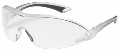 Bouton Airborne Safety Glasses with Clear/Gray Temple and Clear Anti-Fog Lens