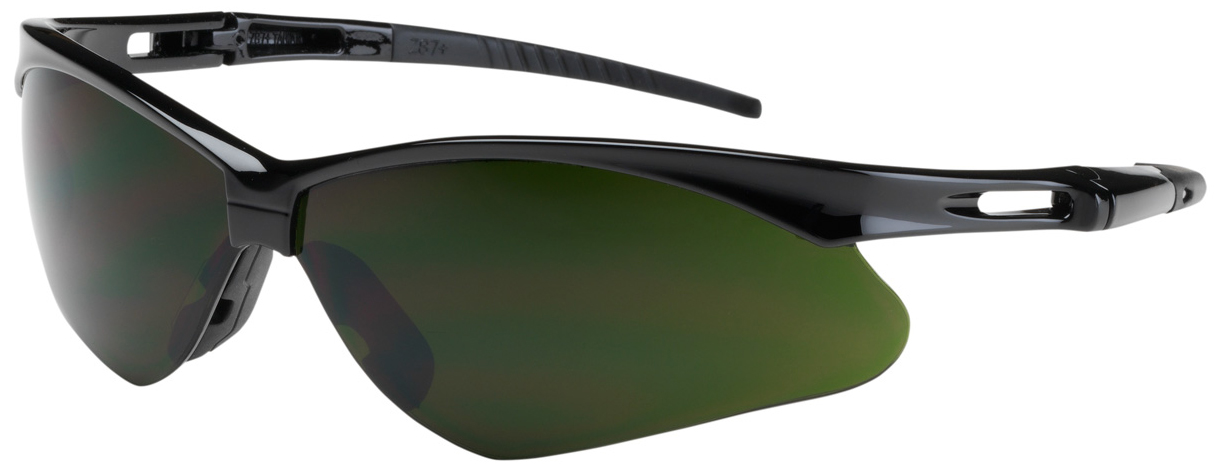Bouton Anser Safety Glasses with Black Frame and IR 5.0 Lens