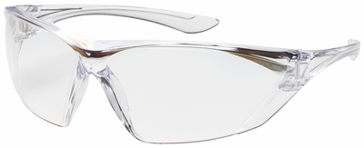 Bouton Bullseye Safety Glasses with Clear Temple and Clear Anti-Reflective Lens