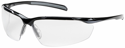 Bouton Commander Safety Glasses with Black Frame and Clear Anti-Reflective Lens