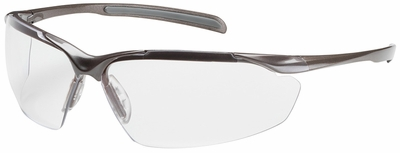 Bouton Commander Safety Glasses with Bronze Frame and Clear Anti-Reflective Lens