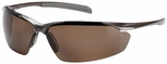 Bouton Commander Safety Glasses with Bronze Frame and Polarized Brown Lens