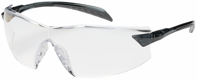Bouton Radar Safety Glasses with Gray Temple and Clear Anti-Reflective Lens