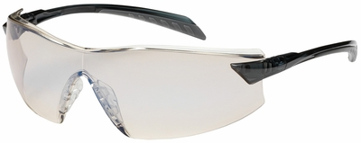 Bouton Radar Safety Glasses with Gray Temple and Indoor/Outdoor Anti-Fog Lens