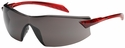 Bouton Radar Safety Glasses with Red Temple and Gray Anti-Fog Lens