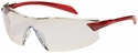 Bouton Radar Safety Glasses with Red Temple and Indoor/Outdoor Blue Anti-Fog Lens