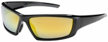 Bouton Sunburst Safety Sunglasses with Black Frame and Gold Mirror Lens