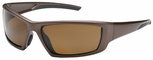 Bouton Sunburst Safety Sunglasses with Brown Frame and Polarized Brown Lens