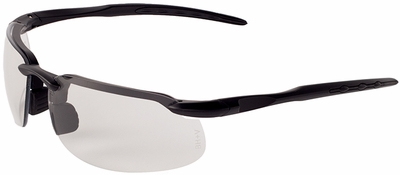 Bullhead Kingfish Safety Glasses with Matte Black Frame and Photochromic Smoke Lens