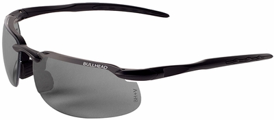 Bullhead Kingfish Safety Glasses with Matte Black Frame and Polarized/Photochromic Smoke Lens