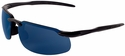 Bullhead Swordfish Safety Glasses with Matte Black Frame and Polarized Precision Blue Mirror Lens