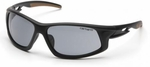 Carhartt Ironside Safety Glasses with Black Frame and Gray Anti-Fog Lenses