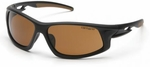Carhartt Ironside Safety Glasses with Black Frame and Sandstone Bronze Anti-Fog Lenses