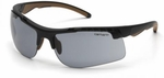 Carhartt Rockwood Safety Glasses with Black Frame and Gray Anti-Fog Lenses