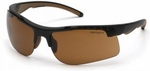 Carhartt Rockwood Safety Glasses with Black Frame and Sandstone Bronze Anti-Fog Lenses