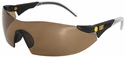 CAT Dozer Safety Glasses with Black Frame and Brown Lens