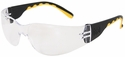 CAT Track Safety Glasses with Black Frame and Clear Lens