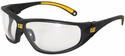 CAT Tread Safety Glasses with Black Frame and Clear Lens