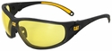 CAT Tread Safety Glasses with Black Frame and Yellow Lens