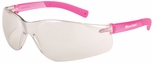 Crews BearKat Small Safety Glasses with Pink Temples and Indoor-Outdoor Lens