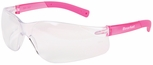 Crews BearKat Small Safety Glasses with Pink Temples and Clear Lens