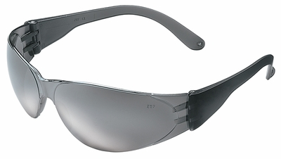 Crews Checklite Safety Glasses with Silver Mirror Lens