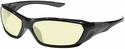 Crews ForceFlex Safety Glasses with Black Frame and Amber Lens