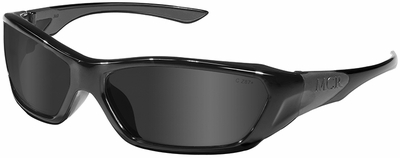 Crews ForceFlex Safety Glasses with Black Frame and Gray Lens