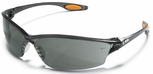 Crews Law 2 Safety Glasses with Grey Anti-Fog Lens