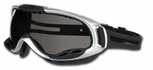 Crews PGX1 Safety Goggle with Rubber Strap and Grey Anti-Fog Lens