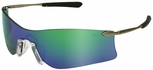 Crews Rubicon Safety Glasses with Emerald Mirror Lens