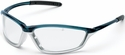 Crews Shock Safety Glasses with Blue/Silver Frame and Clear Anti-Fog Lens