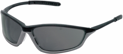 Crews Shock Safety Glasses with Onyx/Gray Frame and Gray Anti-Fog Lens