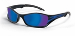 Crews Tribal Safety Glasses with Graphite/Tattoo Frame and Blue Mirror Lens