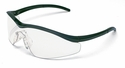 Crews Triwear Safety Glasses with Onyx Frame and Clear Anti-Fog Lens
