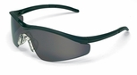 Crews Triwear Safety Glasses with Onyx Frame and Gray Anti-Fog Lens