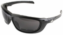 Crews USS Defense Foam Safety Glasses with Black Frame and 3.0 Gray IR Lens