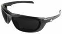 Crews USS Defense Foam Safety Glasses with Black Frame and 5.0 Gray IR Lens