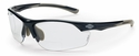 Crossfire AR3 Bifocal Safety Glasses with Shiny Pearl Gray Frame and Clear Lens