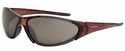 Crossfire Core Safety Glasses with Crystal Brown Frame and HD Brown Flash Mirror Lens