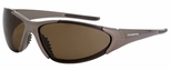Crossfire Core Safety Glasses with Mocha Brown Frame and Polarized Brown Lens