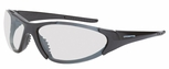 Crossfire Core Safety Glasses with Shiny Black Frame and Indoor-Outdoor Lens