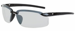 Crossfire ES5 Safety Glasses with Matte Black Frame and Indoor-Outdoor Lens